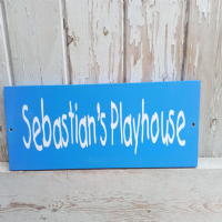 Personalised  Children's Outdoor Playhouse Plaque